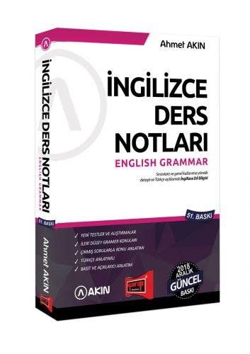 Akın Dil & Yargı Yayınları 2018 YDS Grammar İngilizce Ders Notları 51. Baskı