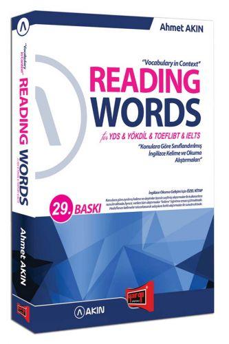 Akın Dil & Yargı Yayınları Reading Words for YDS YÖKDİL TOEFL IBT IELTS 28. Baskı