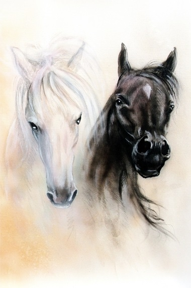Atlar Kanvas Tablo (40x60cm) (Kargo Ödeyen Ürün)