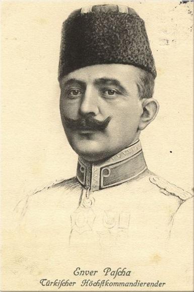 Enver Paşa kanvas tablo (40x60 cm) (Kargo Ödeyen Ürün)