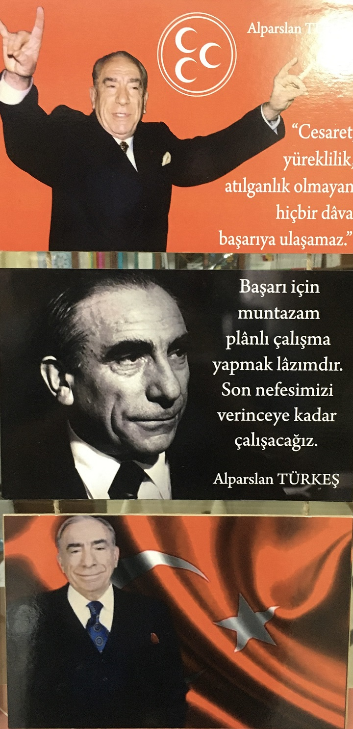 Alparslan Türkeş Ahşap Tablo (3'lü)