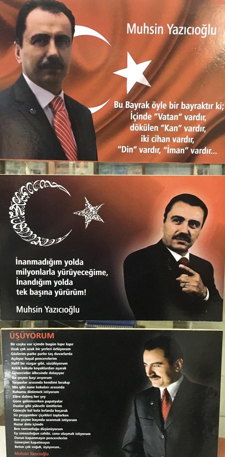 Muhsin Yazıcıoğlu Ahşap Tablo (3'lü)