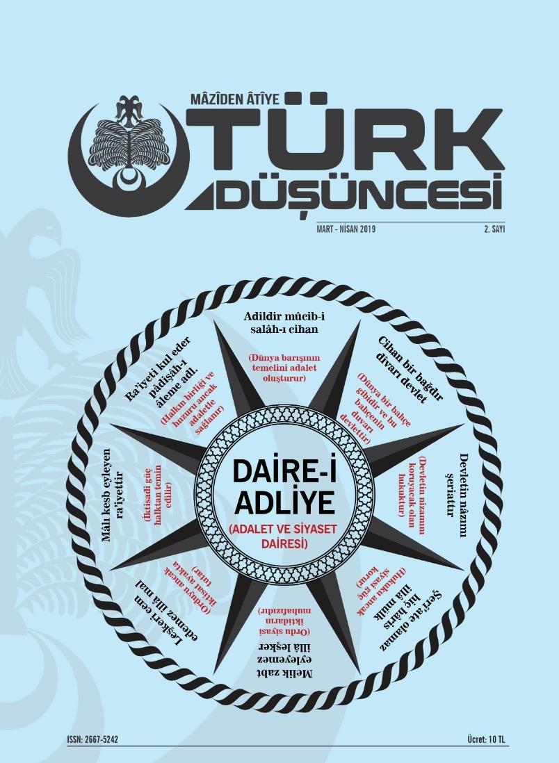 Maziden Atiye Türk Düşüncesi Dergisi Sayı: 2 Mart - Nisan 2019