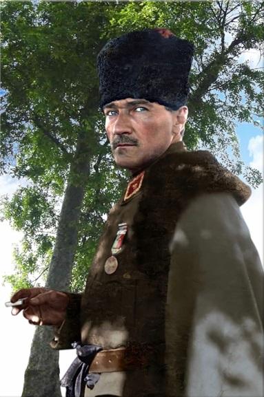 Mustafa Kemal Atatürk Kanvas Tablo (Kargo Ödeyen Ürün)