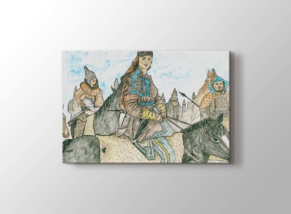 Tomris Hatun Kanvas Tablo (60x40 cm) (Kargo Ödeyen Ürün)